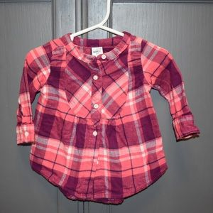 Infant pink flannel shirt 6months